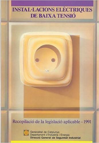 Descargar libros para nintendo. Instal·lacions elèctriques de baixa tensió. Recopilació de la legislació aplicable 1991 8439316607 in Spanish PDF