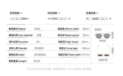 en cercle soleil du polarisées Blanc lunettes métallique style inspirées vintage rond de Mercure retro Lennon FnTnqz