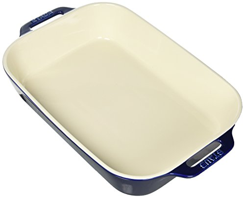 Staub 40508-594 Ceramics Rectangular Baking Dish, 13x9-inch, Dark Blue