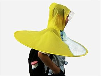 zrlsly cabeza capa plegable de paraguas; Transparente; Raincoat, C M