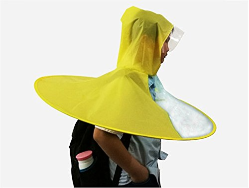 Amazon.com : ZRLsly Head Umbrella; Transparent Folding Cloak; Raincoatd M : Garden & Outdoor