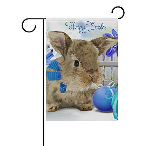 Naanle Easter Bunny Rabbit Polyester Garden Flag 12 X 18 Inc