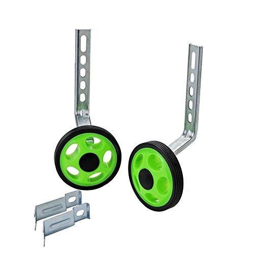 - MORFAN Training Wheels for 12 14 16 18 20 Inch Bicycle,Kids Bike Stabiliser(GREEN)