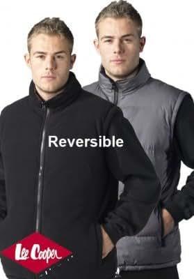 Lee Cooper Workwear Gilet sans manches réversible Noir/gris Taille M