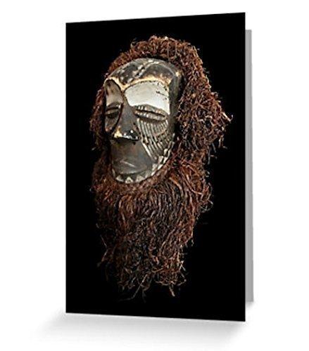 Kuba Helmet Mask African Art Greeting Card Original Fine Art Photography Blank Inside