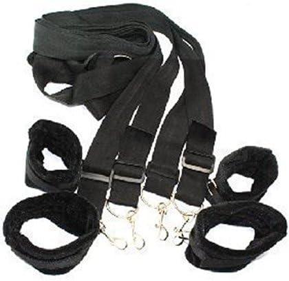 Fur Red Tied Str/áps Bedroom Cuffs Set Nylon Under Mattress Soft Ankle Wrist Tight Cuffs Strap