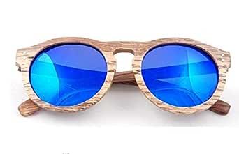 Sunglasses oval coated wood polarized light