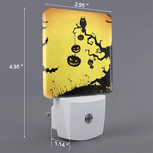 Xiaoyedenggg Funny Halloween Plug-in Night Light, Warm White LED Nightlight,Dusk-to-Dawn Sensor,Bedroom,Bathroom,Kitchen,Hallway,Stairs,Energy Efficient,Compact ()