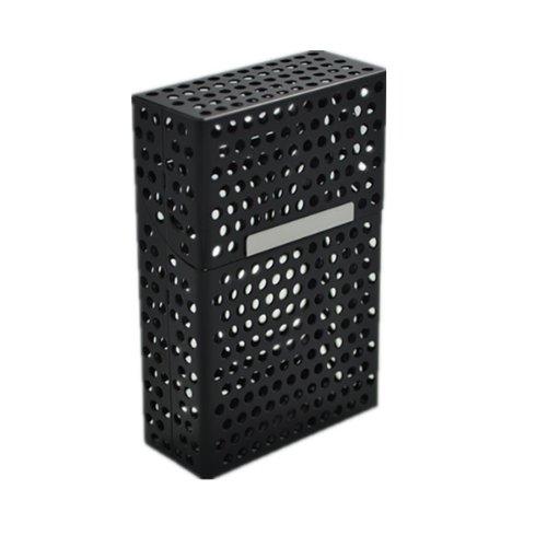 Generici in metallo Mesh design resistente scatola portasigarette, nero LAIFU