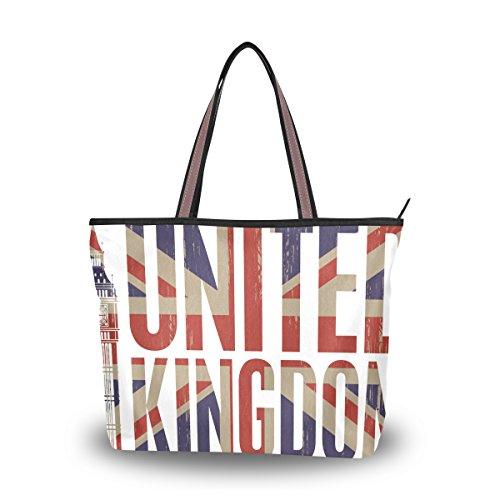 Women's Designer Handbags Fashion Big Canvas Washable Tote Bags Shoulder Bag Top-handle Bag with Fashion Creative British Flag for Shopping Travel - Sunglasses Designers British