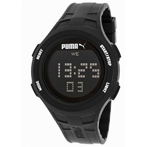 Puma PU911301001 Loop Black Chronograph Digital Silicone Watch