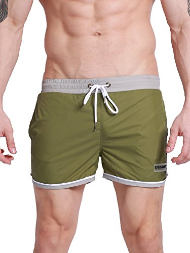 Neleus Men's Gym Shorts with Pockets,803,Green,USA M,Tag XL