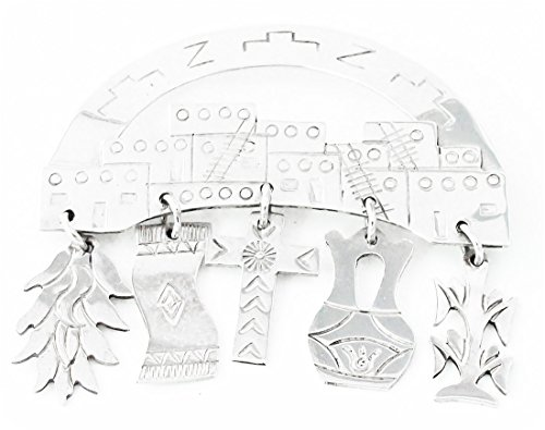 Sterling-Silver-Vintage-Pueblo-Pin-Navajo