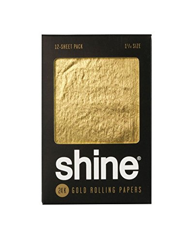 Shine 24K Gold Rolling Papers - 12 PK - 1 1/4