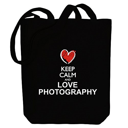 and love Canvas style Bag Idakoos Hobbies Photography Keep Tote chalk calm WPE7ZC