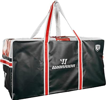 Warrior Goalie Pro Hockey Bag, Black/Red/White, One Size HB0950G BRW OSZ