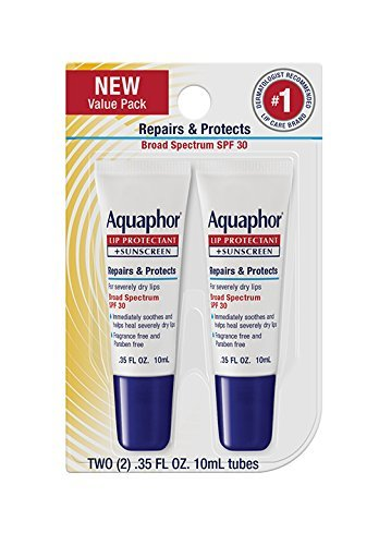 Aquaphor Lip Repair & Protect Tube Blister Card Dual Pack, 0.35 Ounce