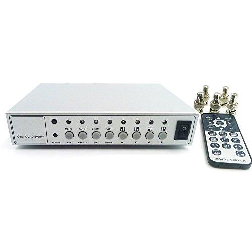 Podofo Hd Color Video Quad Splitter CCTV Video Camera Processor