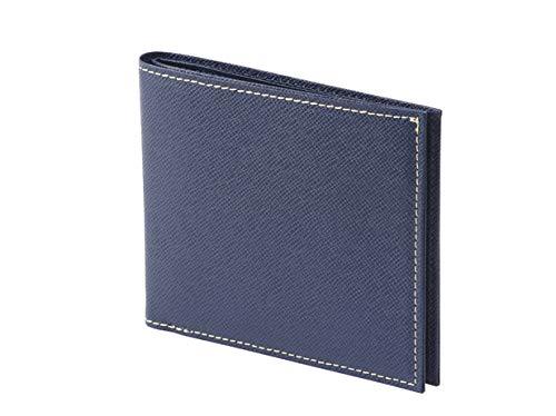 FRUH flue smart slim wallet GL012L flat-panel bi-fold wallet leather made in Japan (Navy)