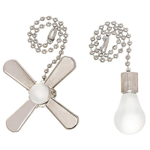 Ceiling Fan Chain Pull (Harbor Breeze 6-in Brushed Nickel Metal Pull Chain)