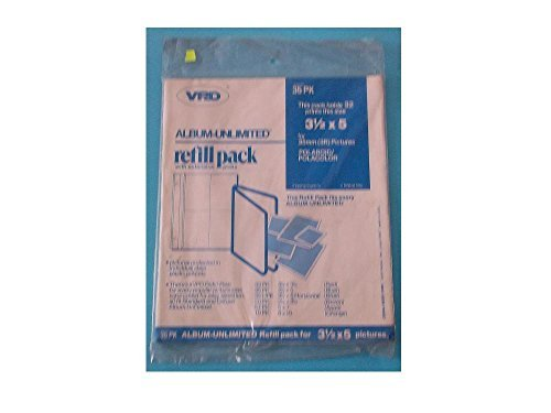 VPD, Album Unlimited, Refill Pack, With Extension Posts, 35PK, For 3 1/2