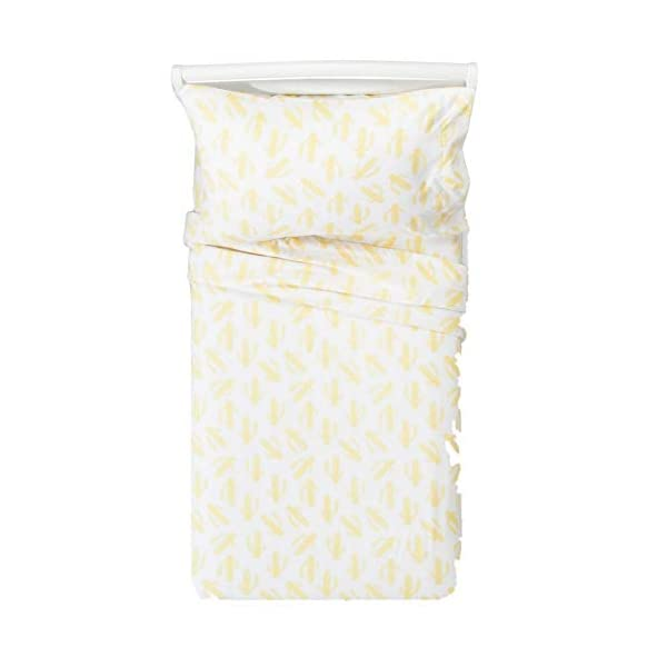 Pillowfort-4pc-Full-Sheet-Set-Casual-Cactus-White-with-Light-Yellow