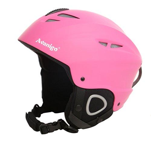 Avanigo Ski Helmet with Safety Certificate, Snow Sport Helmets Skiing Snowboarding Gear for Men Women Youth, Adjustable Fit, Fleece Liner ()