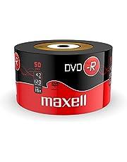 50 stuks. Maxell DVD-R 4,7GB 16x in shrink