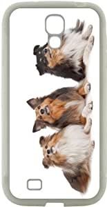 Rikki KnightTM Shetland Sheepdogs Design Design Samsung? Galaxy S4 Case Cover (White Hard Rubber TPU with Bumper Protection) for Samsung Galaxy S4 i9500