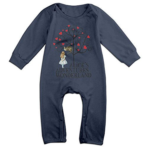 [Cute Baby Bodysuit Outfits Alices Adventures In Wonderland Printed Long Sleeve Clothes] (Wonderland Outfit)