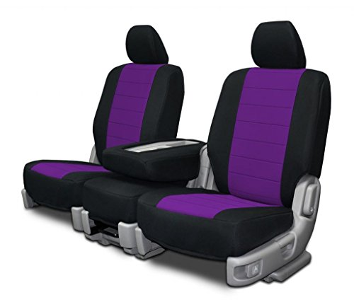 Custom Seat Covers for Audi A5 Rear 50/50 Split Tops/Bench Purple ()