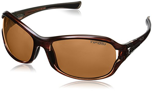 Tifosi Core Polarized Sunglasses - Tifosi Women's DEA Sl Polarized Wrap, Sagewood, 64 mm