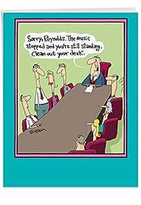 Amazon.com : Big Happy Retirement Card 8.5 x 11 inch with ...