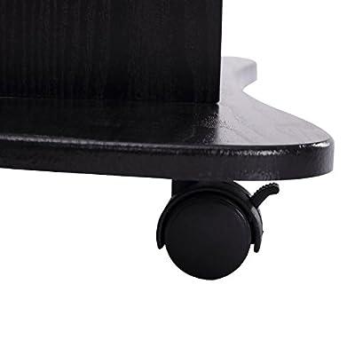 HOMCOM Height Adjustable Laptop Cart Rolling Mobile Podium Desk Stand w/Swivel Top & Storage