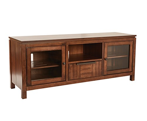 INSPIRED by Bassett BP-BATVCSL-NM Bainbridge Folding TV Console, Nutmeg