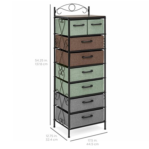 Best Choice Products 8-Drawer Metal Tower Storage Cabinet (Multicolor) by Best Choice Products (Image #5)