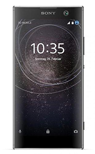 bolsa del cinturón / funda para Sony Xperia XA2, negro + Auriculares | caja del teléfono cubierta protectora bolso - K-S-Trade (TM)