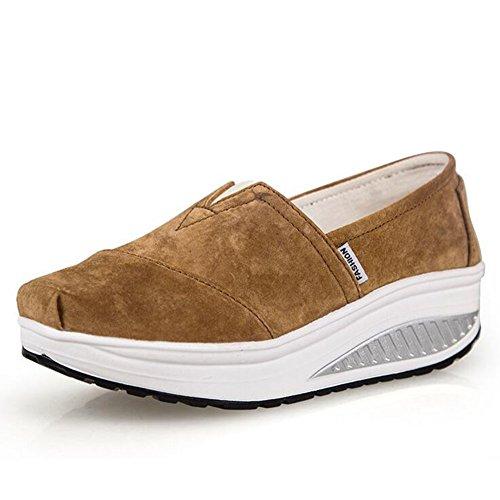 SHINIK Zapatos de mujer New Spring Fall Fitness Zapatos Shake Grueso Inferior Atlético Zapatos para correr casuales Zapatos de cuero Shaking Transpirable Segundo