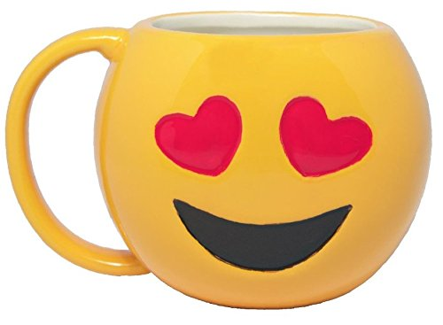 Emo-Gee Cool Heart Eyes Emoji 3D Ceramic Mug