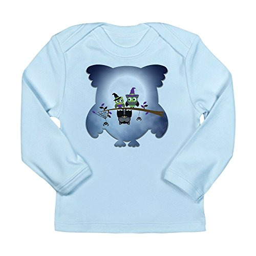 Truly Teague Long Sleeve Infant T-Shirt Little Spooky Vampire Owl With Friends - Sky Blue, 18 To 24 Months -