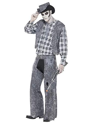 Mens Ghost Town Dead Zombie Cowboy Halloween Western Fancy Dress Costume Outfit (Large (42-44