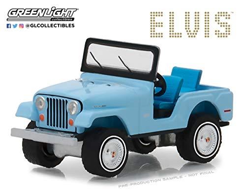 Greenlight 1:64 Hollywood - Elvis Presley (1935-77) - Jeep CJ-5 (Sierra Blue)(Hobby Exclusive)