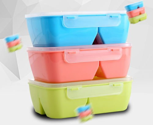AA Student Japanese Microwave Oven Plastic Bento Lunch Box Food Container (Nickelodeon Victorious Items)