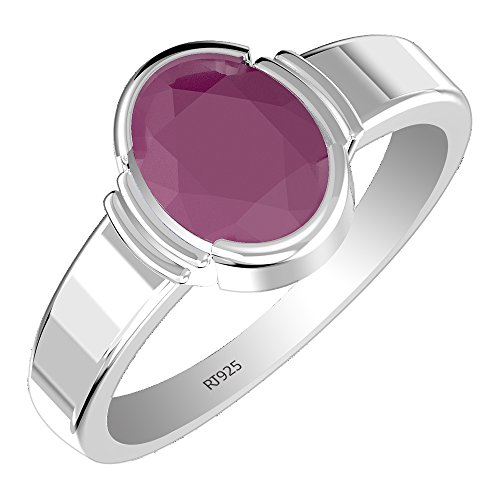 1.95 ct Genuine Amethyst Ruby Sapphire Oval Solid .925 Sterling Silver Rings