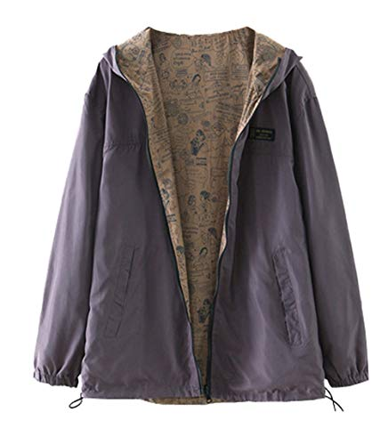 Tops Simple Sweat Hoodie Printemps Fashion Coupe Shirts Casual Fashion Manches Vent Jacket Manteau Longues Outerwear Automne Femmes Jeune rr0Yzw