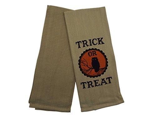 Halloween Kitchen Towels - Set of 2 Deluxe Towels - 16 x 28 Inches -