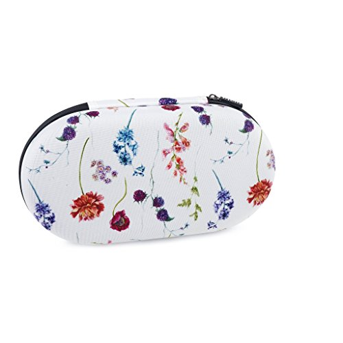 Brakitty (Wild Flowers Cube)SIZE: B-C CUP Premium Bra & Lingerie Travel Accessories Women Accessory Organizer Bikini Protector Case Packing Cube Bra Bag with Waterproof Zipper Closure