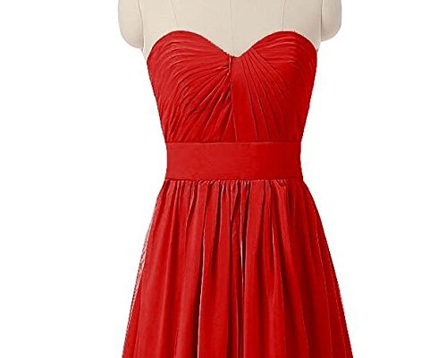 Prom Chiffon Shoulder Off Gown the Dresses Bridesmaid Botong Sweetheart Red Long Grey 7SxZqnCH