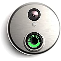 Skybell HD WiFi Doorbell Camera Alarm.com 1080p Color Night Vision Silver