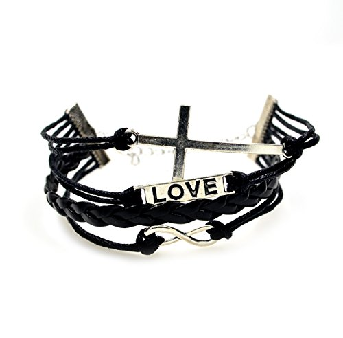 chop-mallr-vintage-leather-wrist-black-infinity-cross-love-rope-bracelet